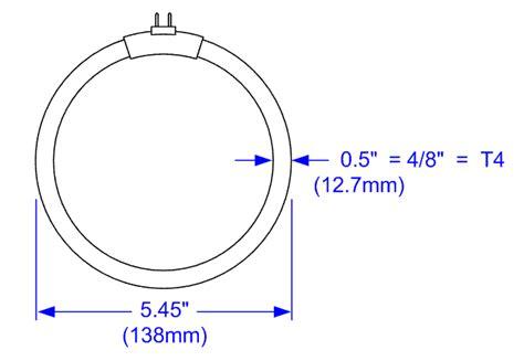 bulb t4 12 watt circular fluorescent light bulb