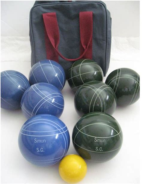 Engraved Custom Bocce Ball Set PAINT THEM THEN ENGRAVE ...