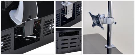 lian li dk q1hx aluminum pc desk case hardened glass no