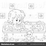 Clipart Bathing Illustration Bannykh Alex Royalty Rf sketch template