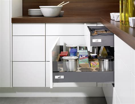rangement cuisine opening system for purist furniture design hettich