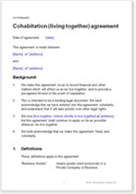 cohabitation living  agreement