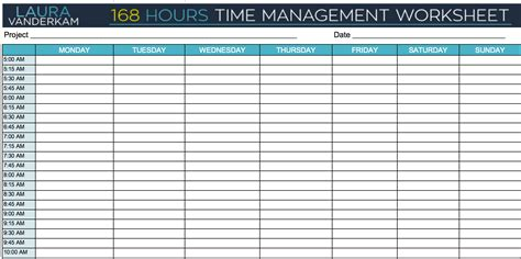 24 hour time management worksheet the best and most