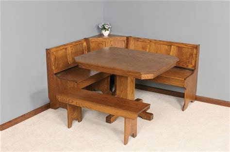 mission breakfast nook set  dutchcrafters amish furniture