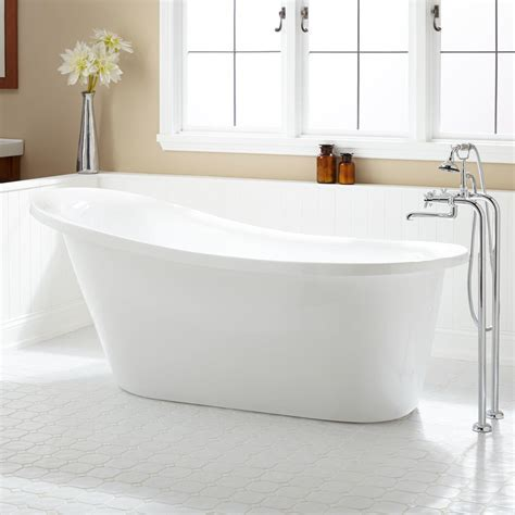 "67"" Sadie Acrylic Slipper Tub   Bathroom"