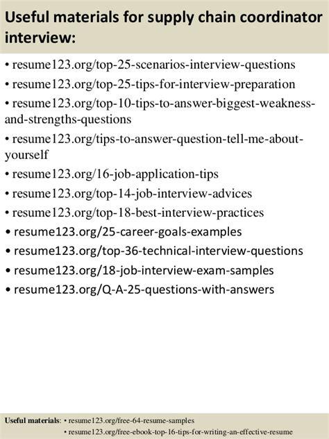 top 8 supply chain coordinator resume sles