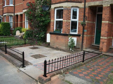 fence for front garden front garden paving and metal fence n king garden features