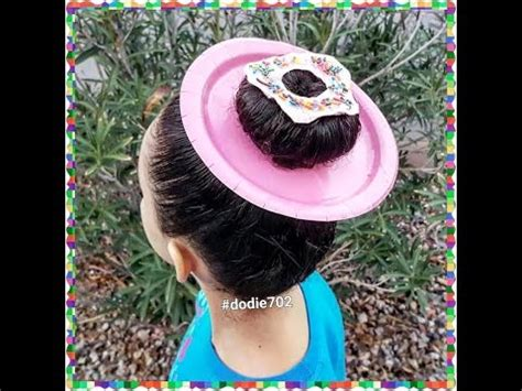 crazy hair day donut hair youtube