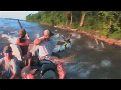 Asian Carp Attack Boat by The Attack Of The Jumping Asian Carp Reel Tv