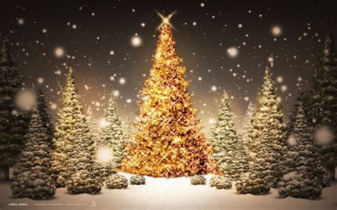 christmas tree golden