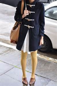Blue Coat with Yellow Tights