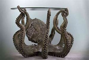 The, Steampunk, Home, Octopus, Table