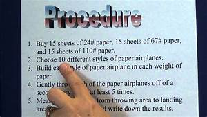 Science Project - 4  Write A Procedure