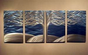 tree of life metal wall art abstract contemporary modern With art wall decor