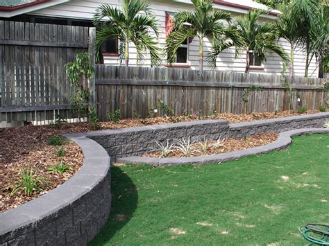triyae backyard retaining wall images various