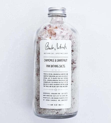 bath salt invigorating chamomile grapefruit homemade