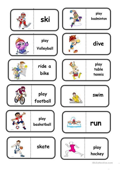 Sport Domino Worksheet  Free Esl Printable Worksheets Made By Teachers