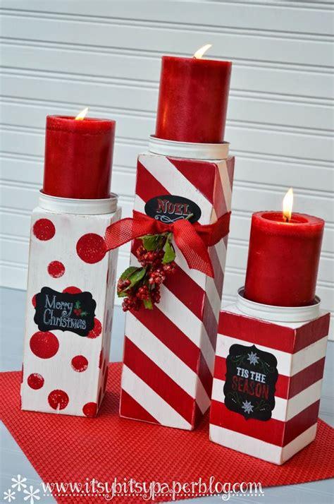 itsy bitsy paper diy  christmas candlesticks