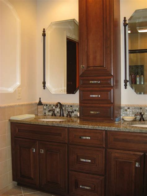 double vanity with linen cabinet gorgeous bathroom vanity and linen cabinet bathroom linen