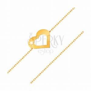 Glatt Und Glänzend : armband aus 14k gold feine kette flacher herzumriss glatt und gl nzend schmuck eshop de ~ Frokenaadalensverden.com Haus und Dekorationen
