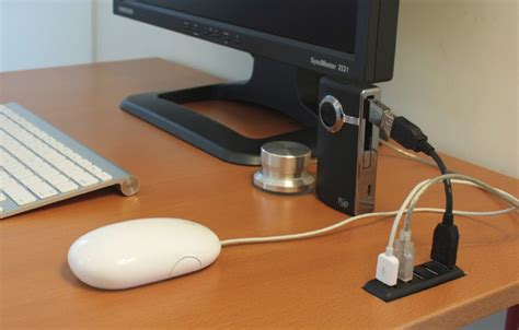desk mounted usb 3 0 hub add a usb hub to your desk if you want an uncluttered