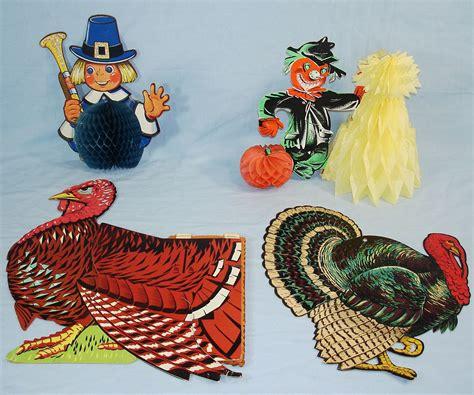 vintage thanksgiving decorations vintage die cut thanksgiving decorations beistle tom turkeys scarecrow pilgrim vintagetoys com