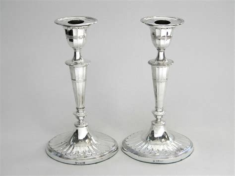 Candle Sticks by Antique Solid Silver Candlesticks Candle Holders