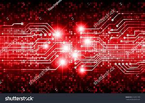 Dark Red Color Light Abstract Technology Stock Vector ...