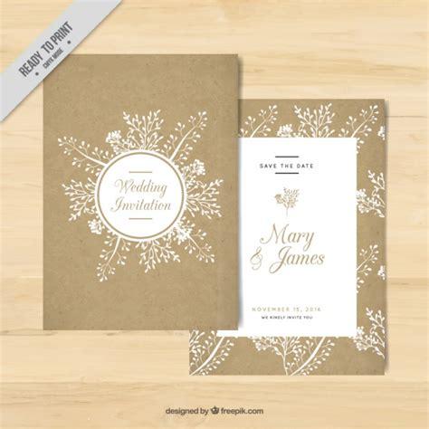 golden wedding invitation  floral elements vector