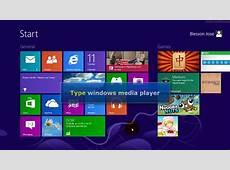 Windows 8 Create shortcut for windows media player on