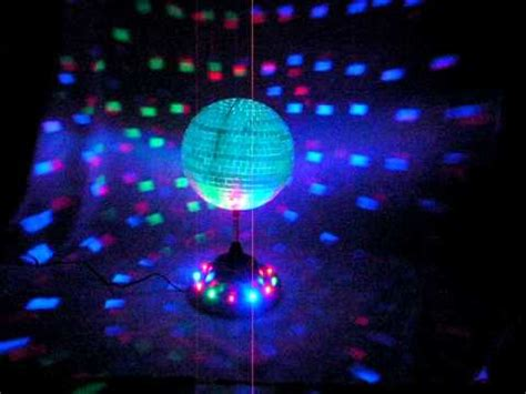 rotating 8 quot mirror disco with color led lights youtube