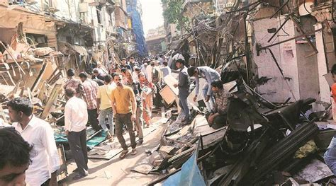 mumbai tragedy averted  meter box  building catches