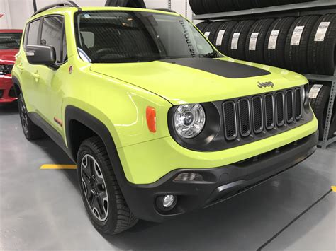 hyper green jeep hyper green renegade trailhawk one of our clients custom