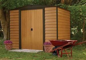 Abri De Jardin Demontable : abri de jardin arrow acier galvanis wr86 4m2 ~ Nature-et-papiers.com Idées de Décoration