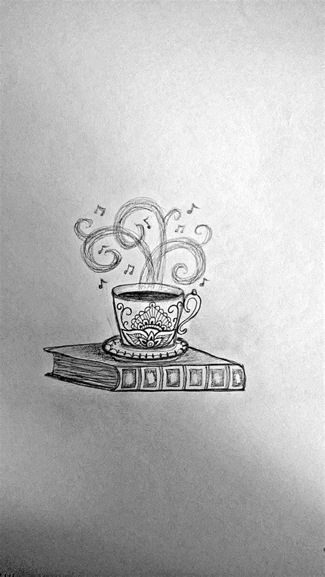 Coffee cup & book idea #3 | Music tattoos, Bookish tattoos, Coffee tattoos
