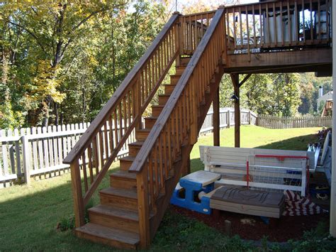 Home Design Ideas Build by How To Build Deck Stairs With Landing Design Ideas
