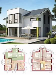 Haus Bauen Ideen Grundriss : einfamilienhaus neubau modern mit satteldach querhaus ~ Orissabook.com Haus und Dekorationen