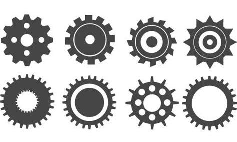 create gear icons  illustrator illustration