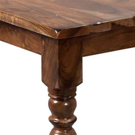Early American Rustic Solid Wood Large Dining Room Table