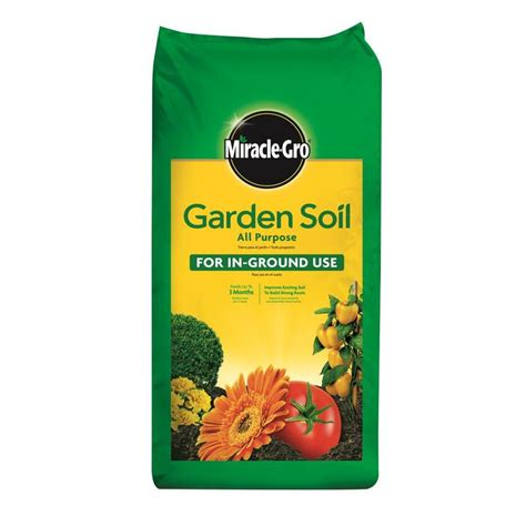 miracle gro garden soil 2 cu ft shop miracle gro 2 cu ft all purpose soil at lowes