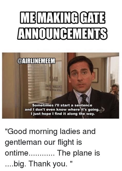 Good Morning Ladies Meme - funny airline employee memes of 2017 on sizzle drinking