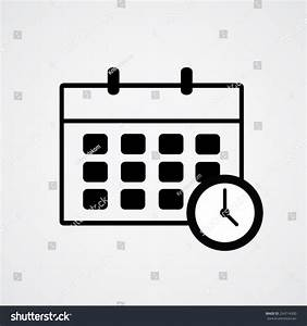 Schedule Icon And Clock. Vector Illustration Eps10 ...