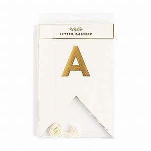 gold foil letter pennant banner kit confetticouk With gold letter banner kit