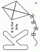 Coloring Kite Pages Preschool Preschoolers Kites Template Az Marker Printables Bingo Popular Activities sketch template