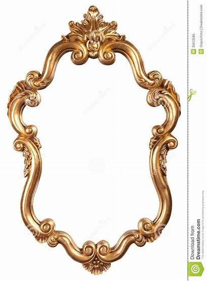 Mirror Frame Clipart Antique Clip Gold Mirrors