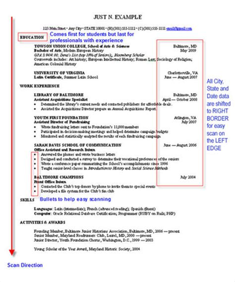 scan resume to email how to write a resume technical communication center