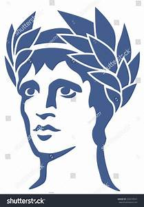 Graphic Portrait Ancient Greek God Apollo Stock Vector ...