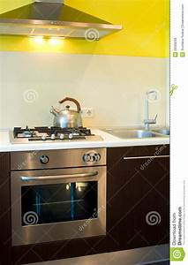 Stove Hood With Fan And Light Gas Stove And Oven In Kitchen Stock Photo Image 26500298