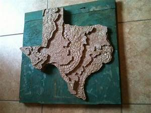 Recycled State - Texas - Topographical 3D Map Art | D, 3d ...