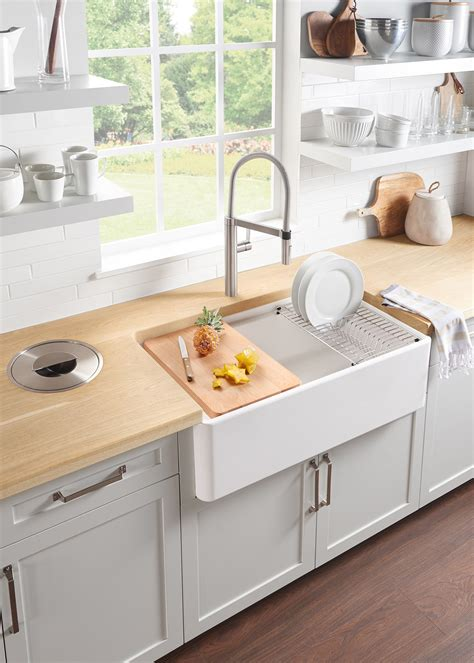apron sink kitchen how to a model from blanco kitchen sinks 1324